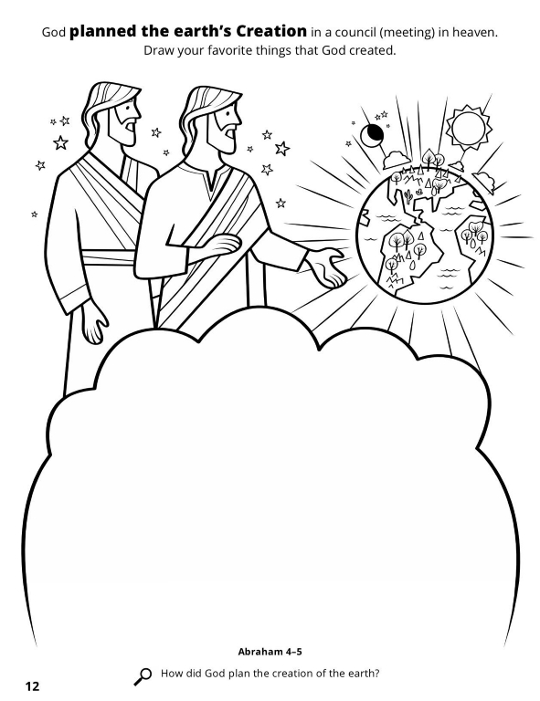 Creation Worksheet - Bible Coloring Pages