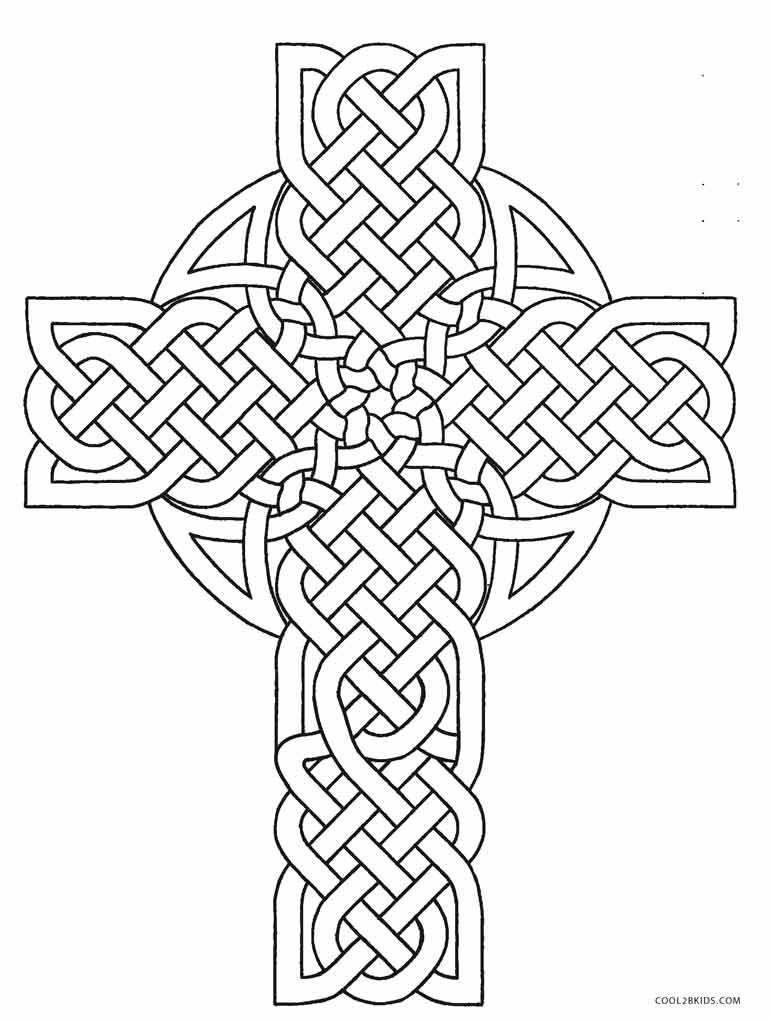 Cross Coloring Page Celtic Design