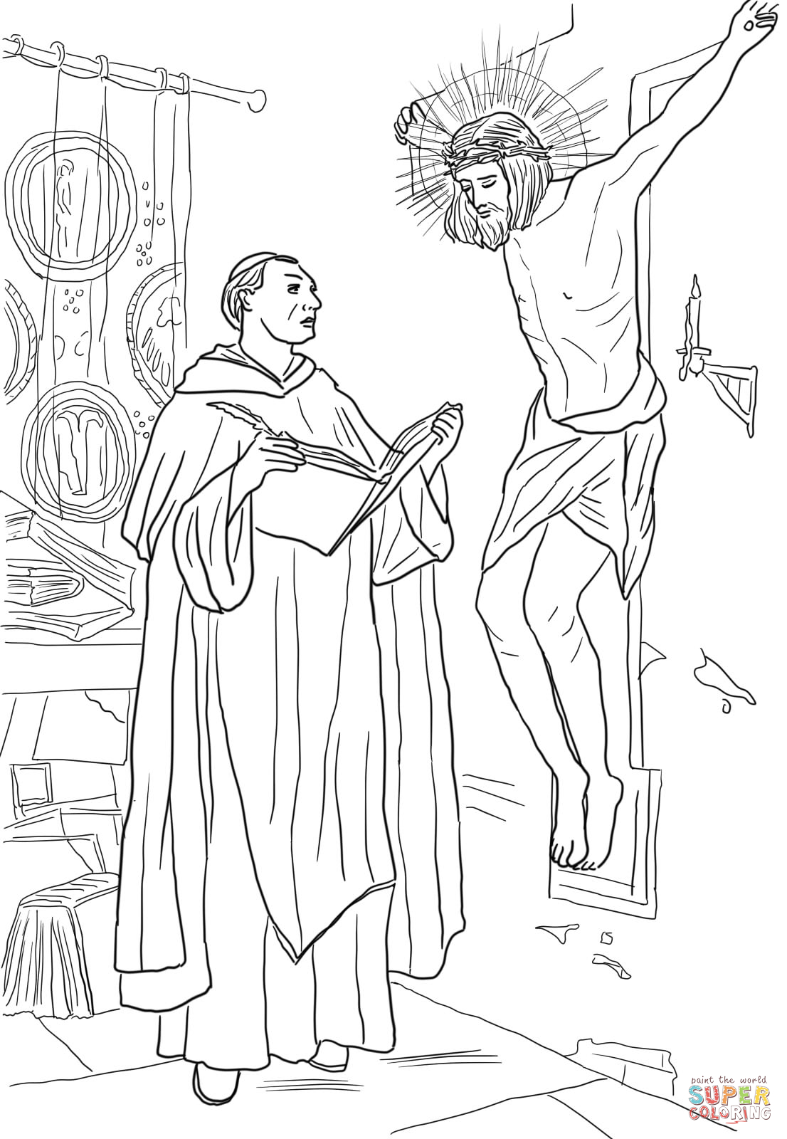 Crucifixion - Bible Coloring Pages