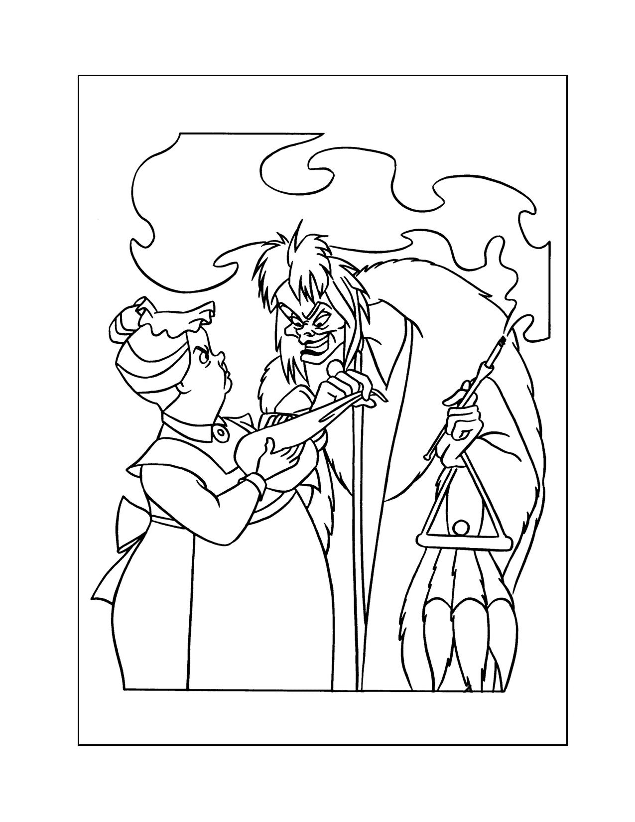 Cruella Deville Coloring Page