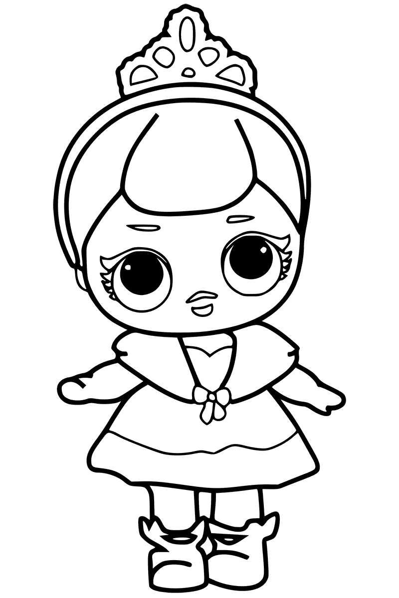 Crystal Queen LOL Dolls Coloring Page