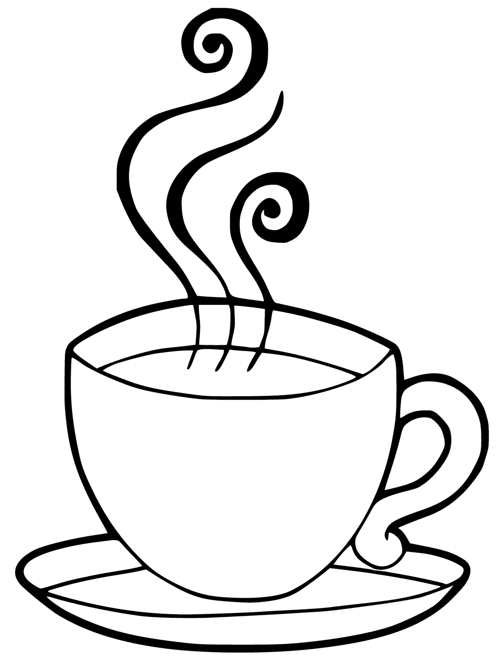 Cup of Coffee Coloring Page