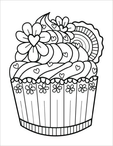 Top 20 Free Printable Cupcake Coloring Pages - YouTube | 499x386