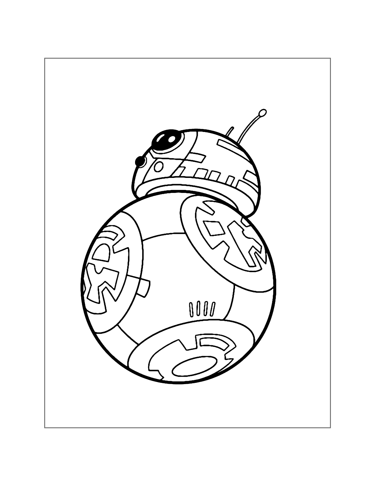 Cute Bb8 Coloring Page
