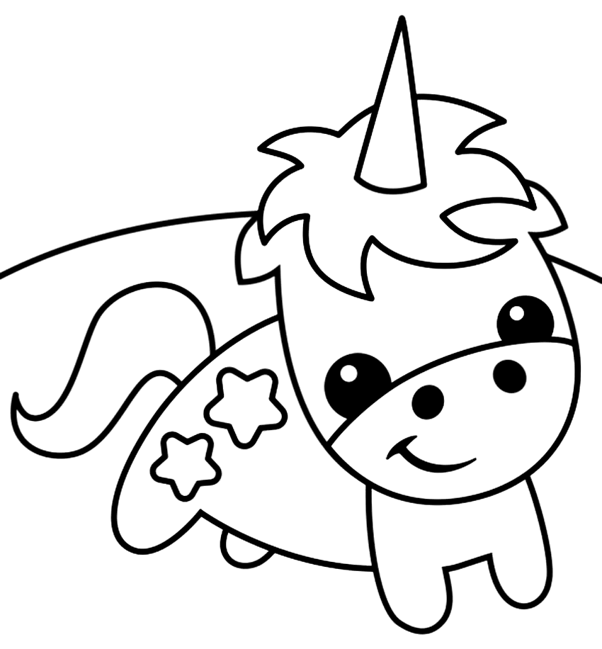 Super Cute Baby Unicorn Coloring Page – coloring.rocks!