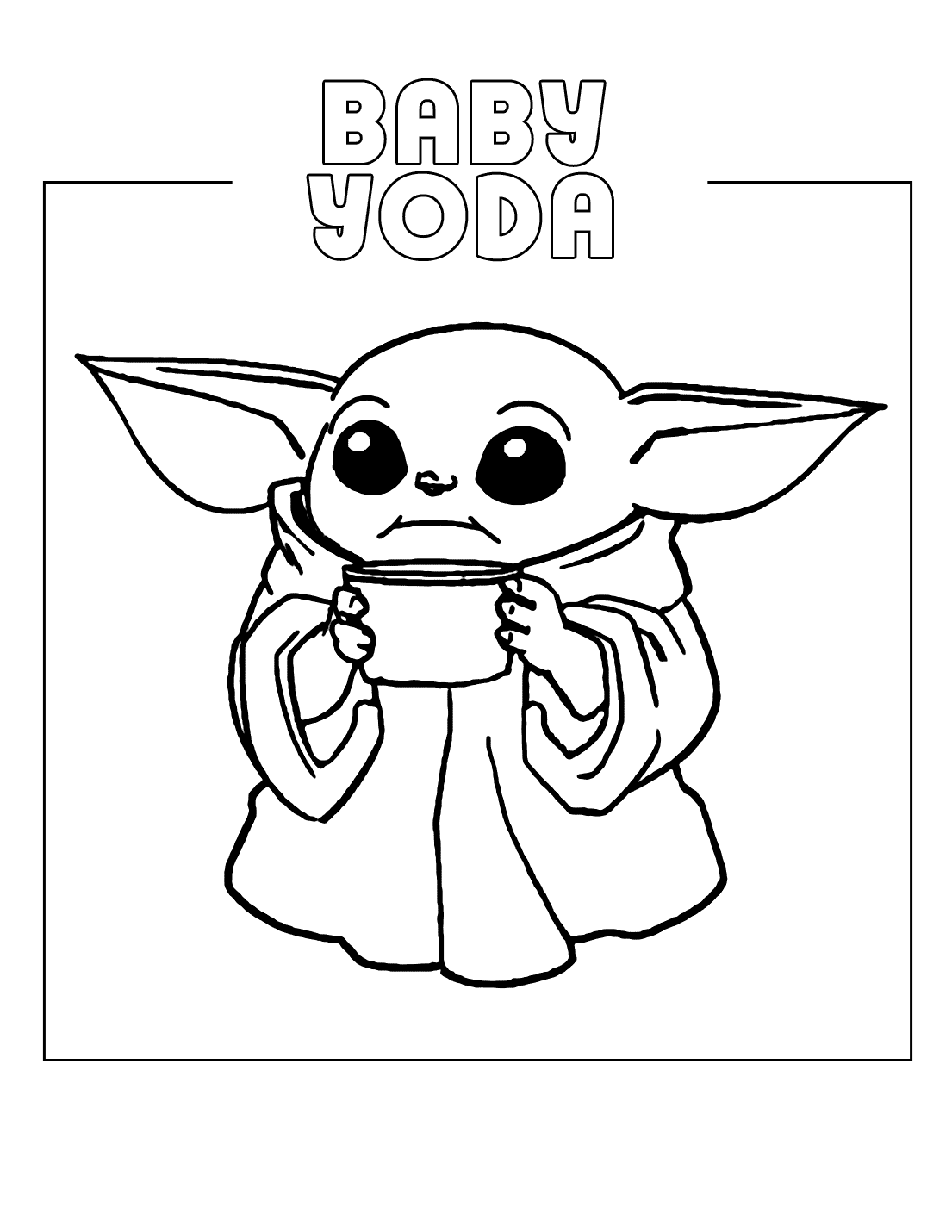 Baby Yoda Coloring Pages Coloring Rocks