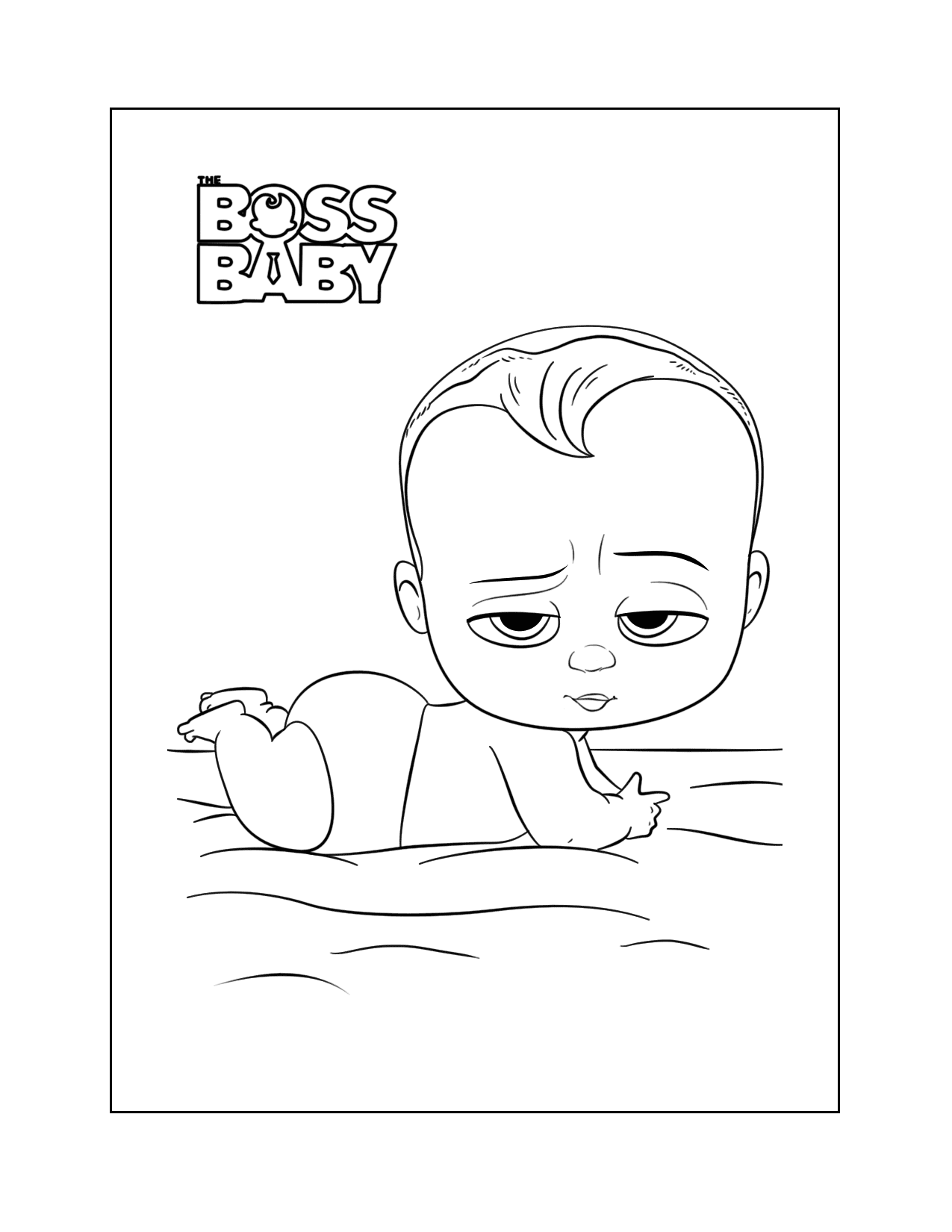 Cute Boss Baby Coloring Pages