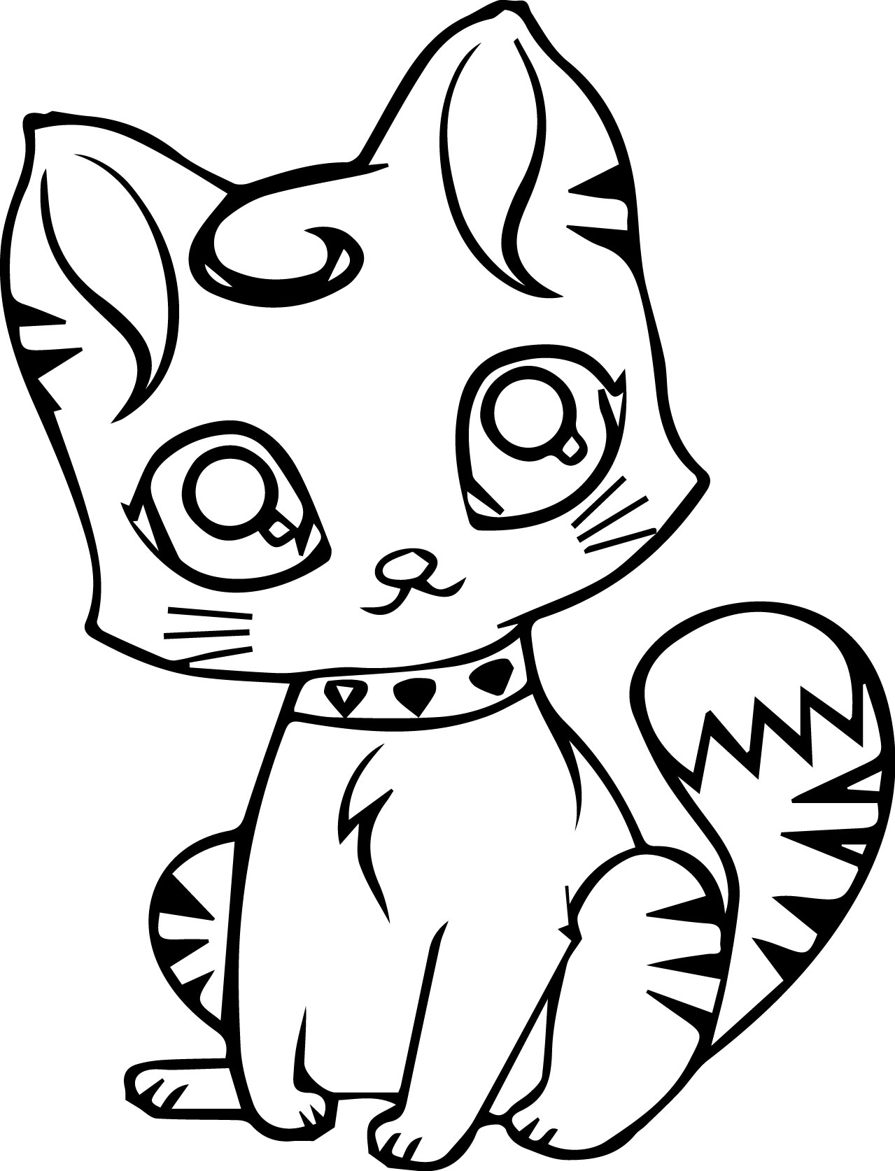 Cute Cat Coloring Page Printables