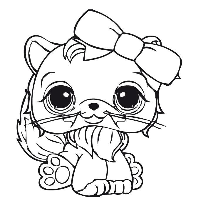 Cute Cat Littlest Pet Shop Coloring Pages