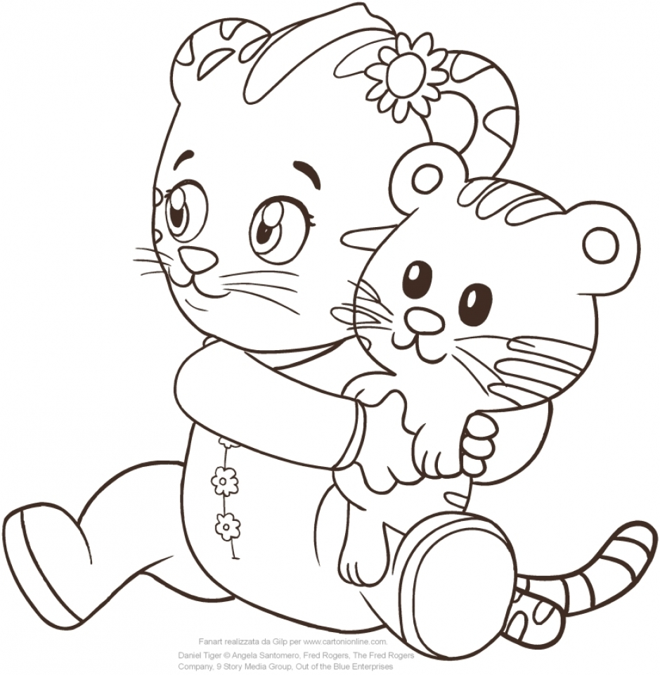 Cute Daniel Tiger Printable Coloring Pages