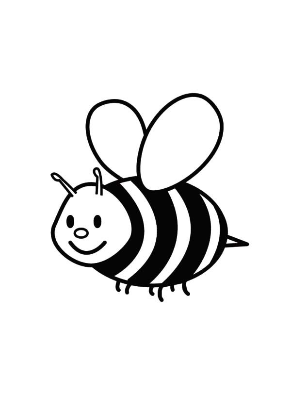 Cute Easy Bumble Bee Coloring Page - coloring.rocks!