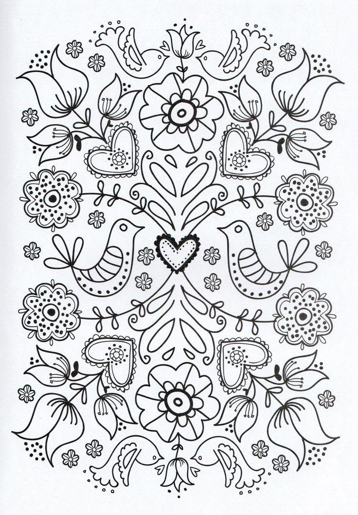 Cute Flower Printable Art for Coloring