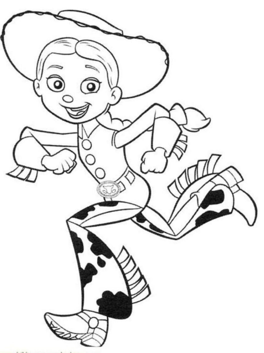 Cute Jessie Toy Story Coloring Pages