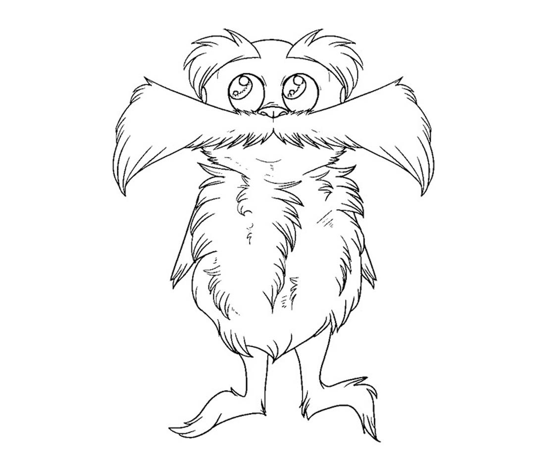 Cute Lorax Coloring Page