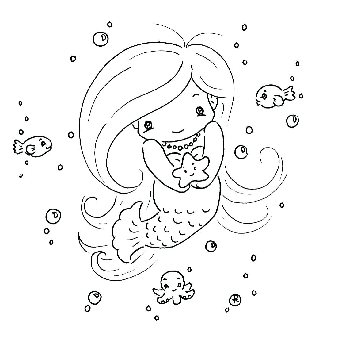 Beautiful mermaid Barbie coloring pages - YouLoveIt.com | 1102x1103
