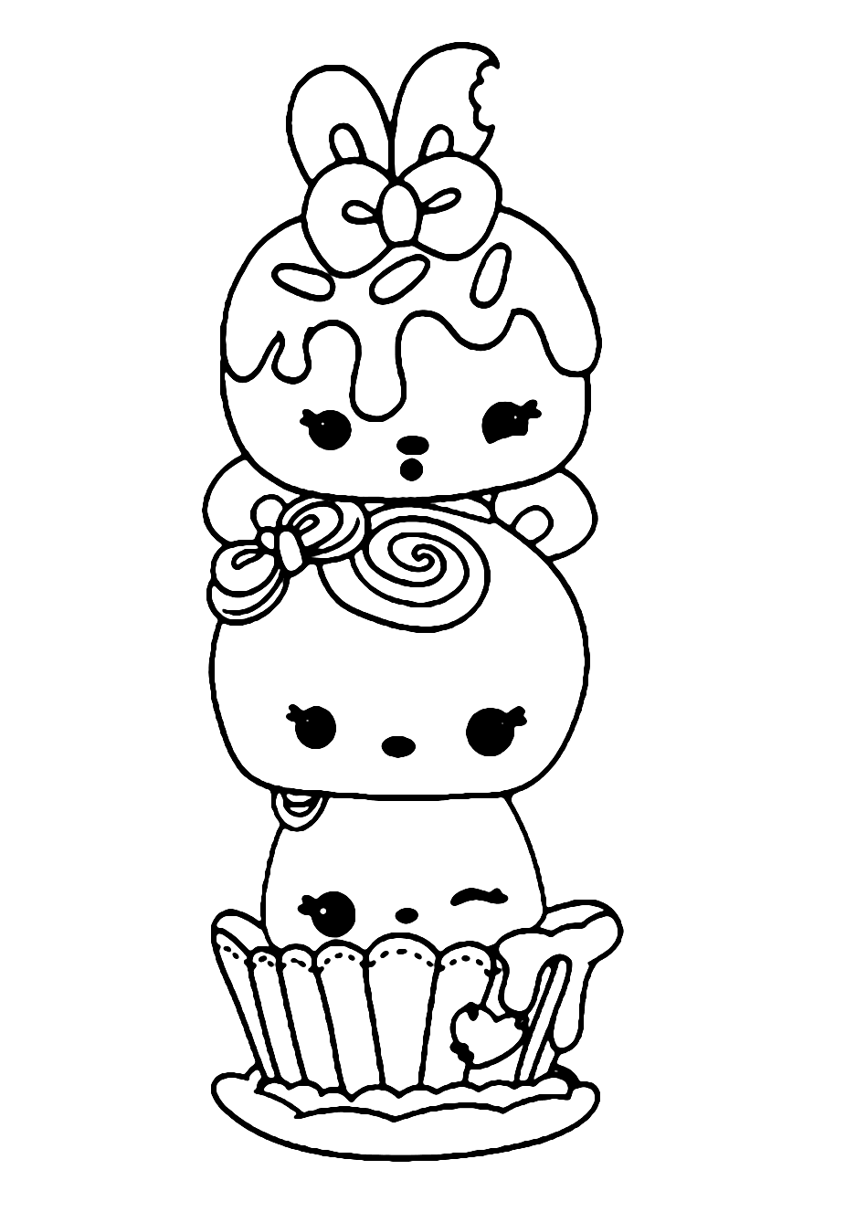 Cute Olaf Coloring Pages - Bowstomatch