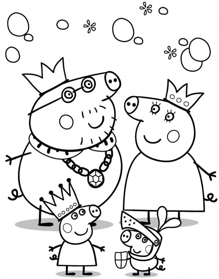 Cute Peppa Pig Coloring Pages