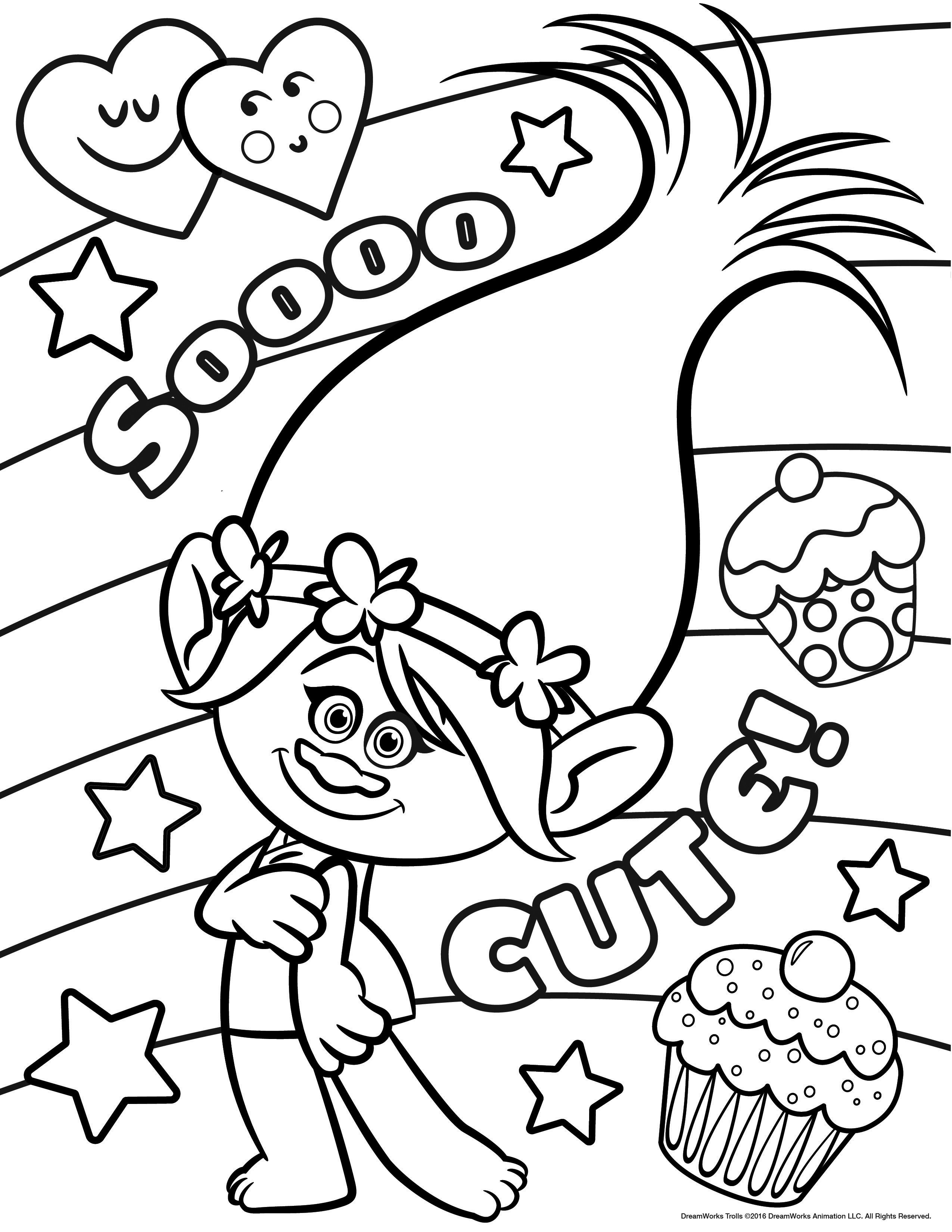 - Trolls Coloring Pages – Coloring.rocks!
