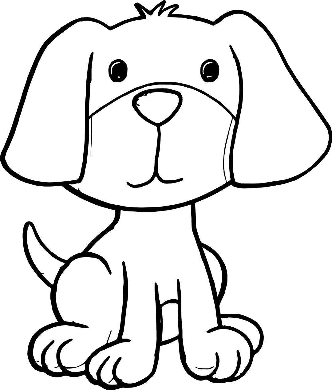 Puppy Coloring Pages - GetColoringPages.com | 1269x1080