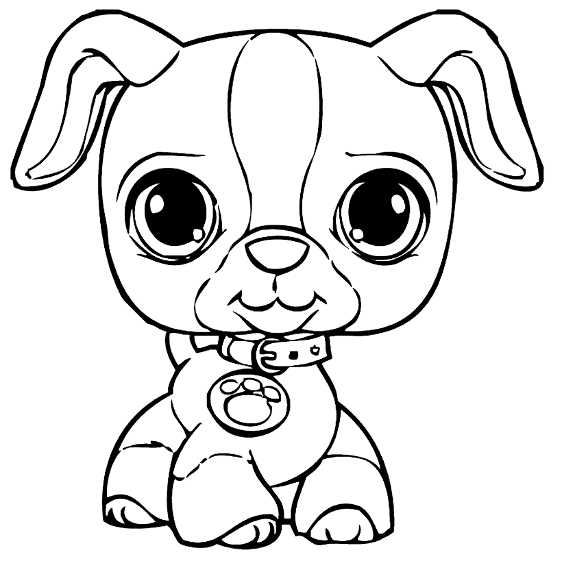 Puppy Coloring Pages - GetColoringPages.com | 819x820
