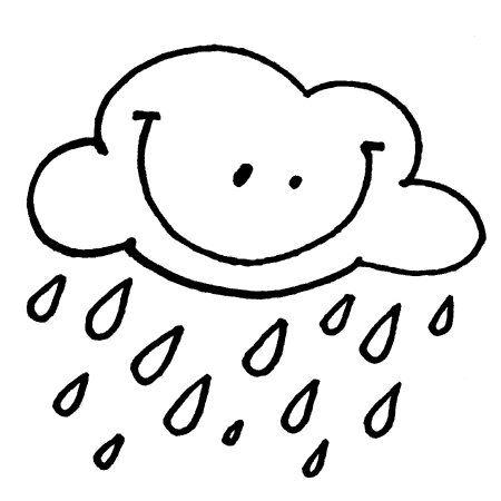 Cute Rain Cloud Coloring Page