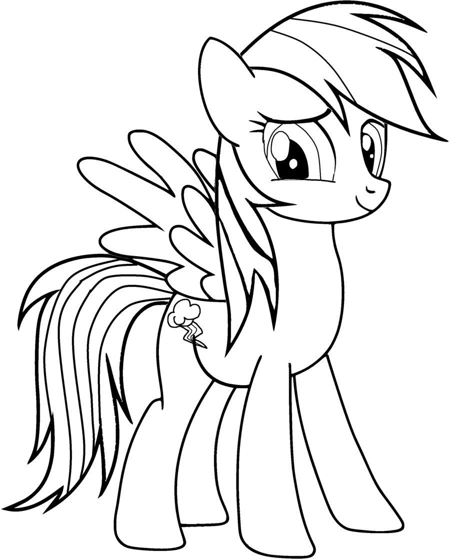 Cute Rainbow Dash Coloring Pages