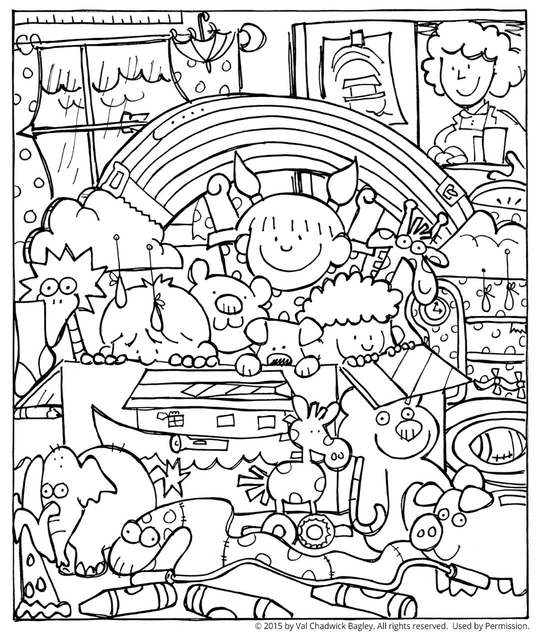 Cute Rainbow Fun Coloring Page