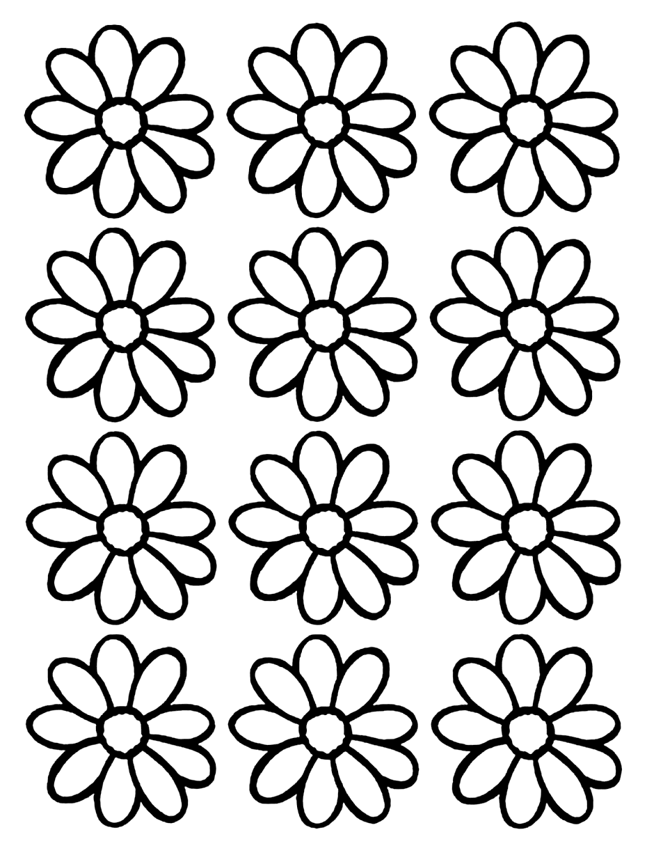 Daisy Flower Pattern Coloring Pages