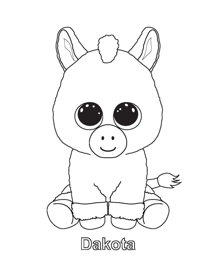 Dakota - Beanie Boo Coloring Pages