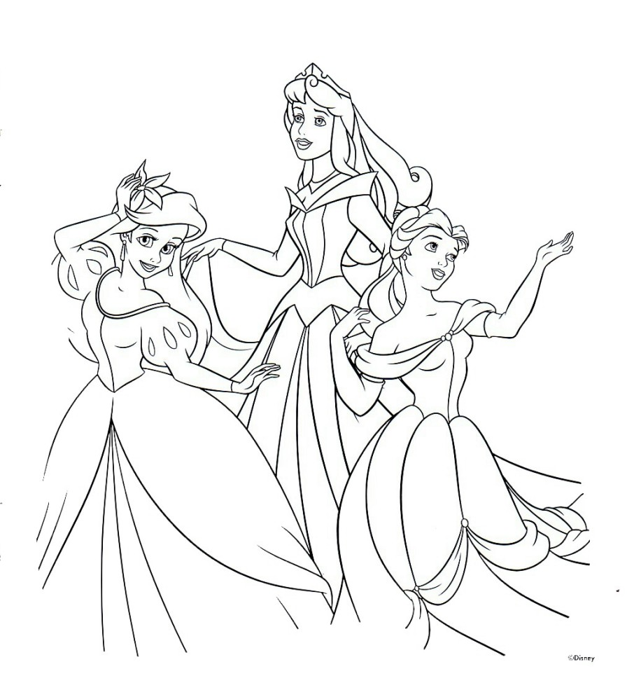 Dancing Disney Princess Coloring Pages