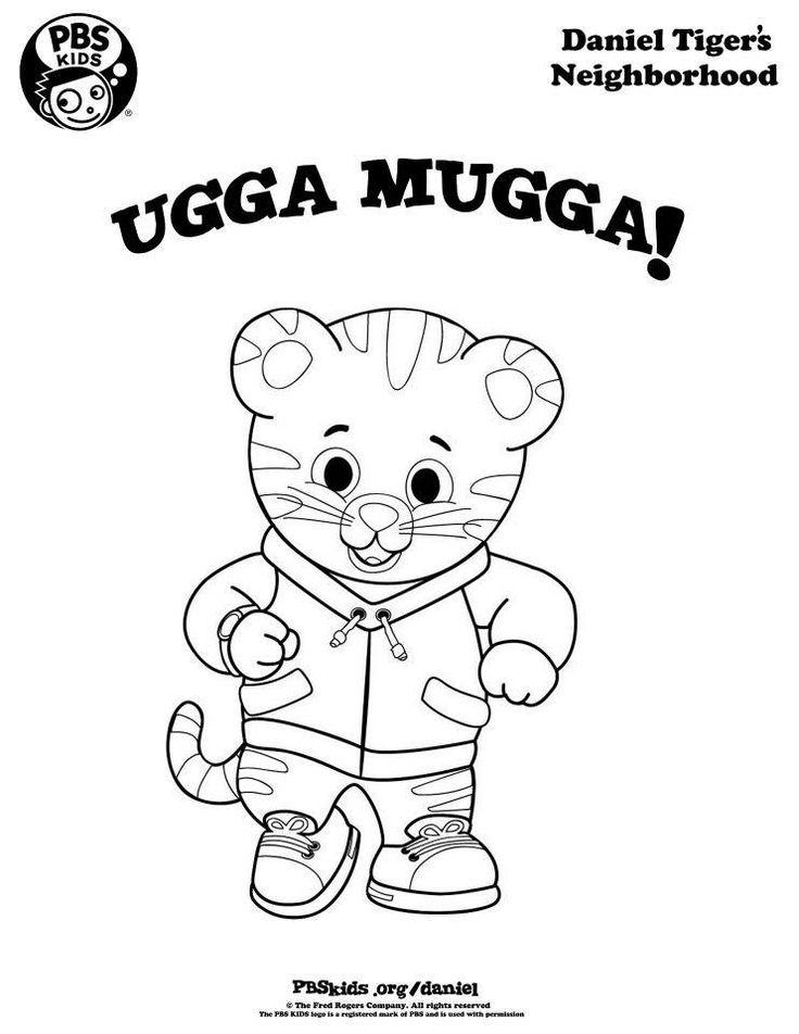 Daniel Tiger Ugga Mugga Coloring Page