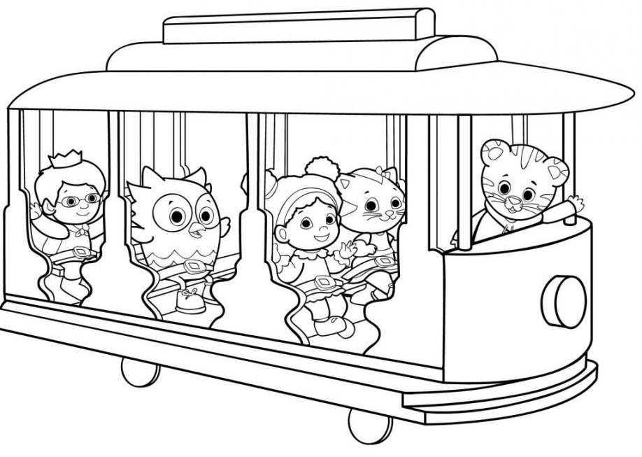Daniel Tigers Neighborhood Coloring Page