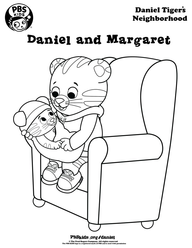 Daniel and Baby Margaret Coloring Page