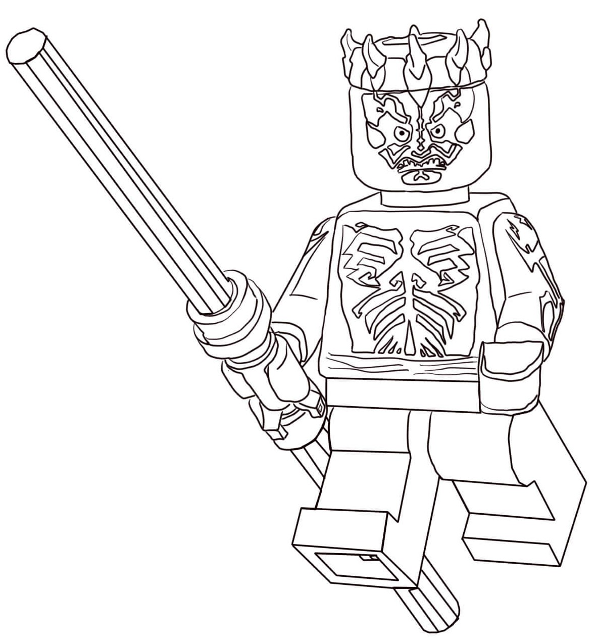 Darth Maul Lego Star Wars Coloring Pages