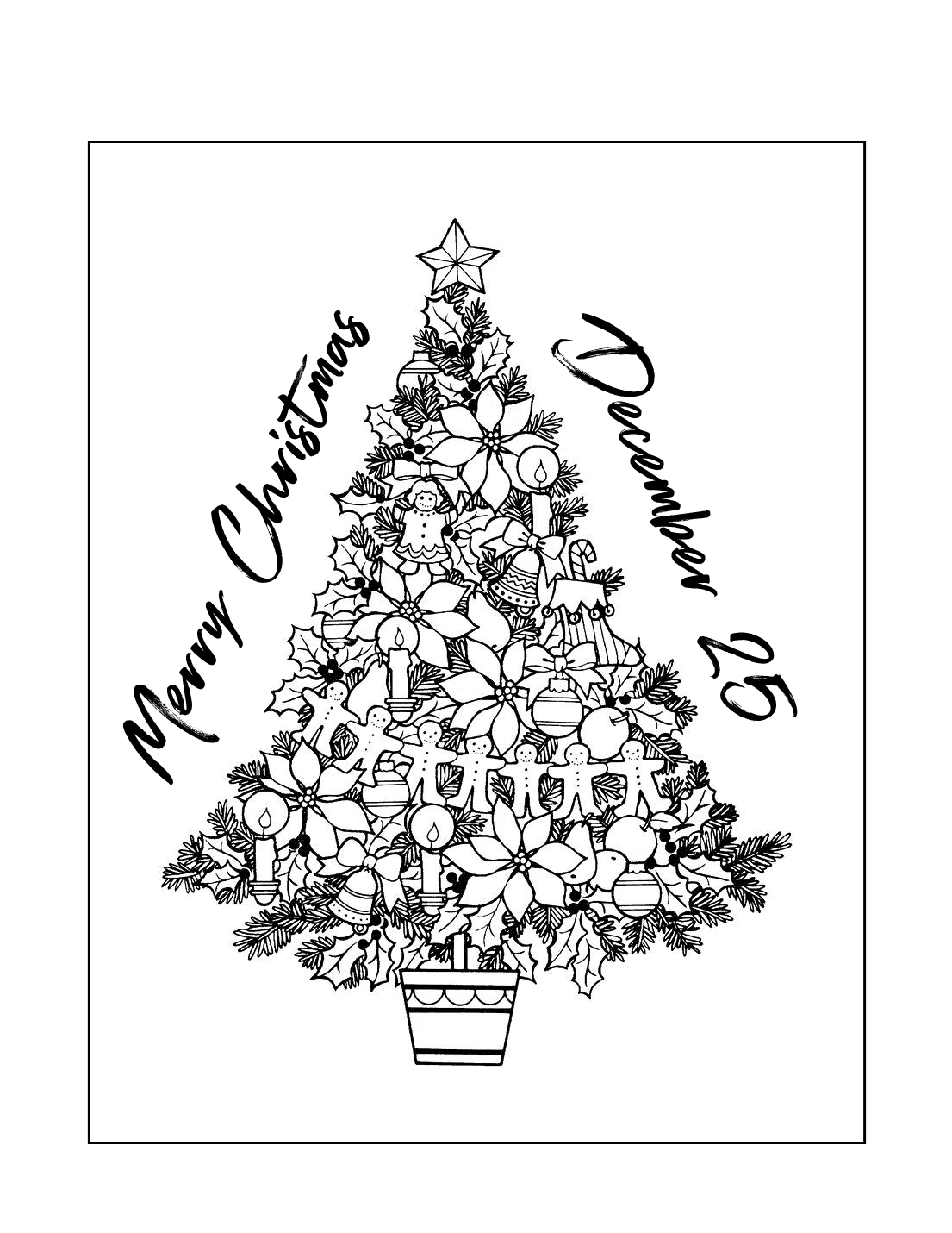 December 25 Christmas Coloring Page