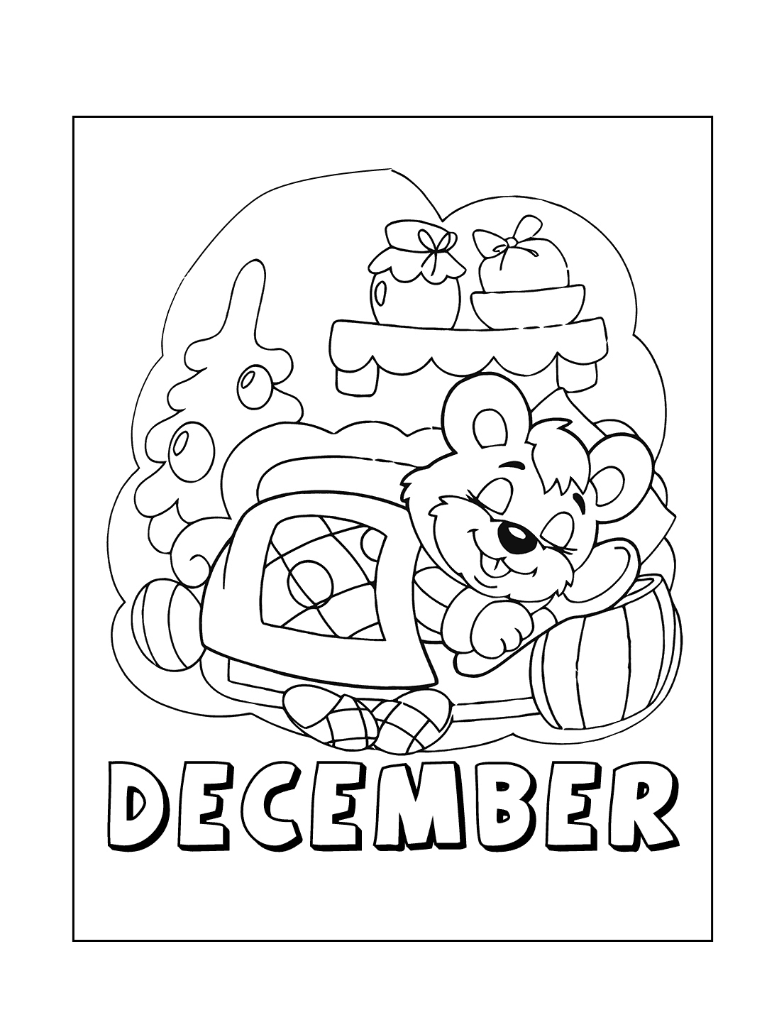 December Dreams Coloring Page