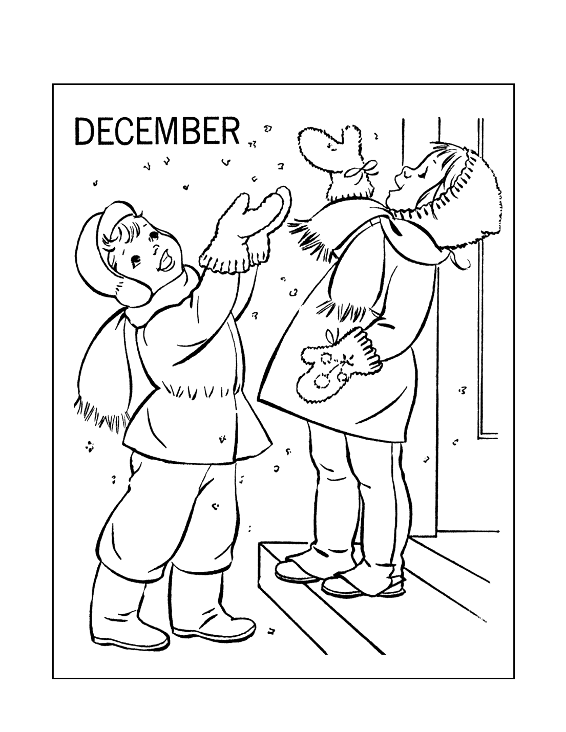 December Fun Coloring Pages