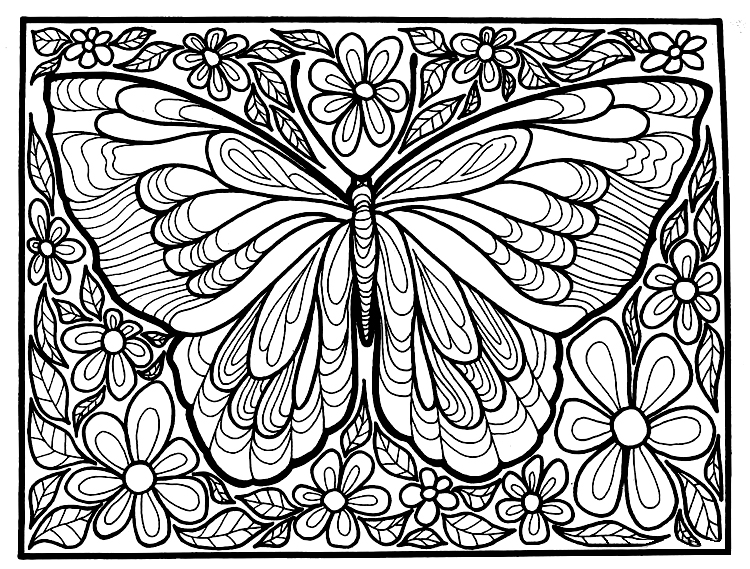 Butterfly Coloring Pages Coloring Rocks