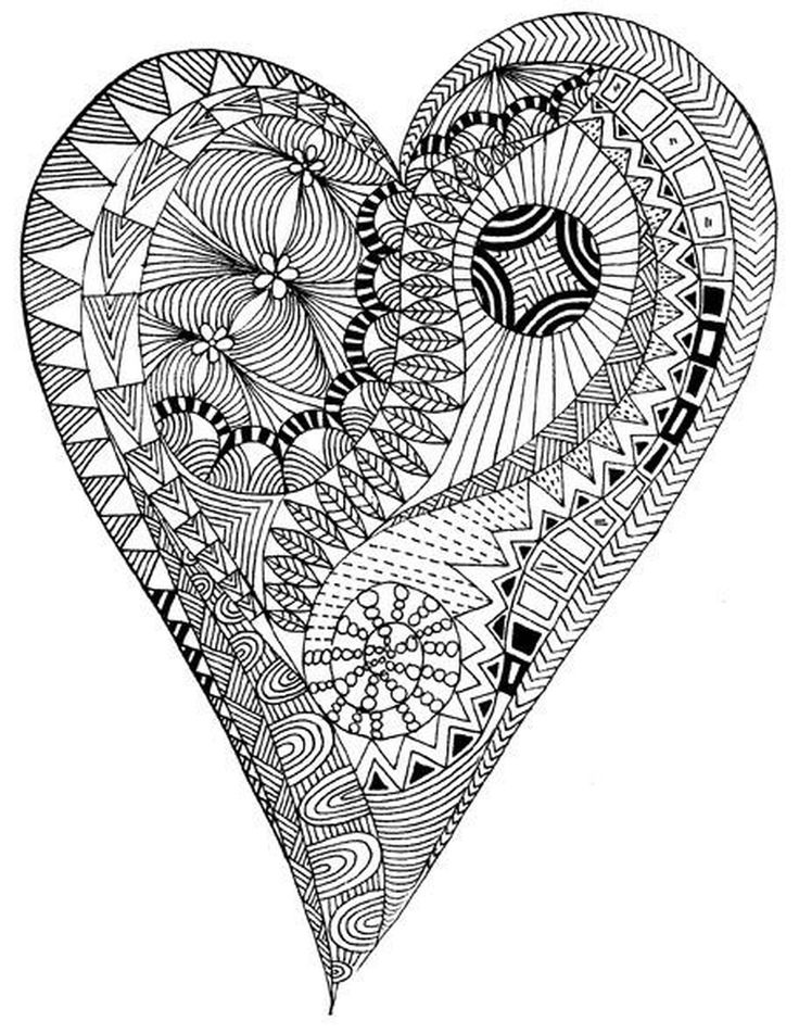 Heart Coloring Pages Coloring Rocks