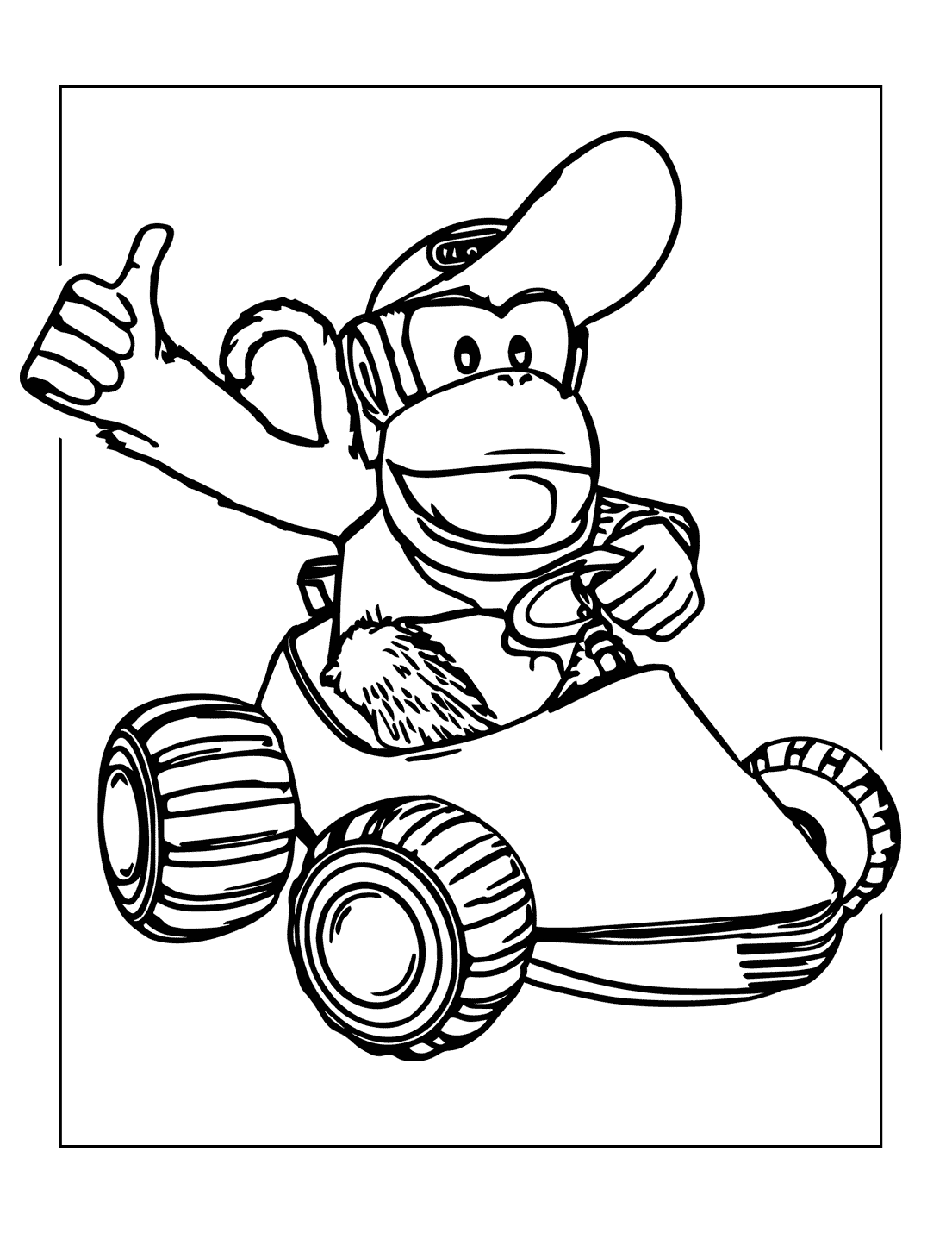 Diddy Donkey Kong Coloring Pages