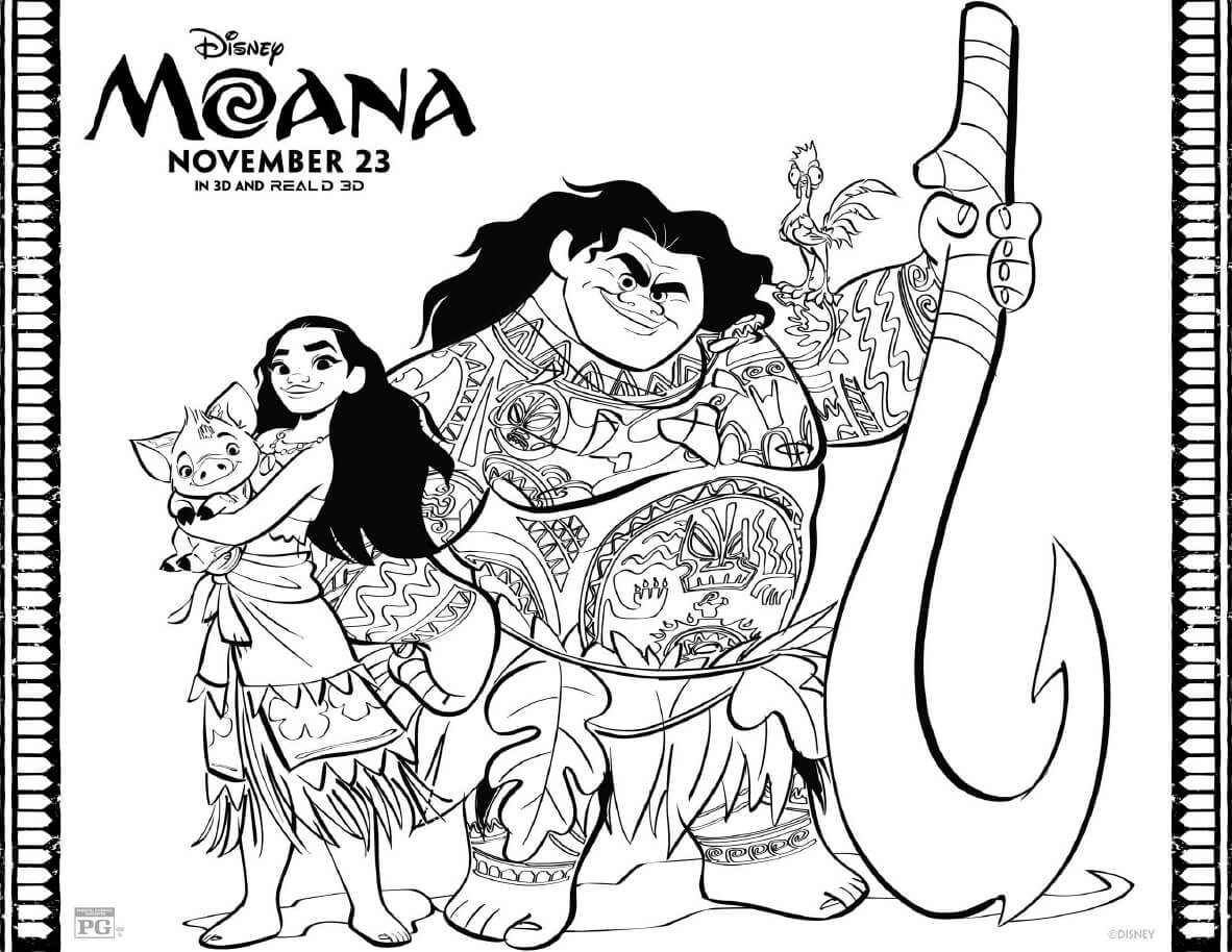Disney Moana Coloring Pages