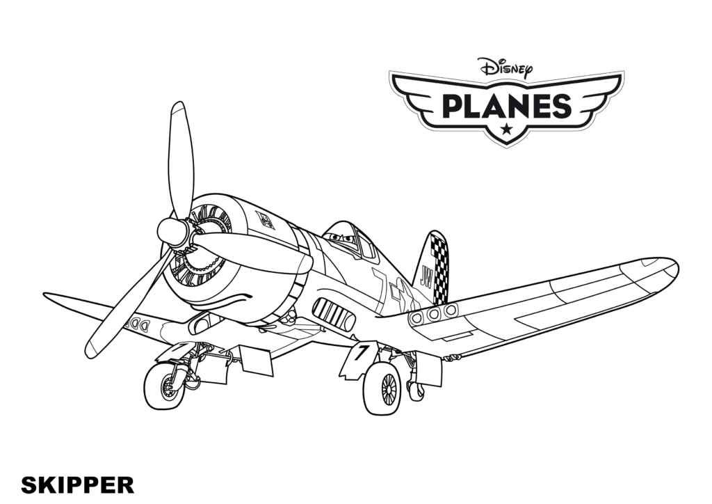 Disney Planes Coloring Pages for Boys