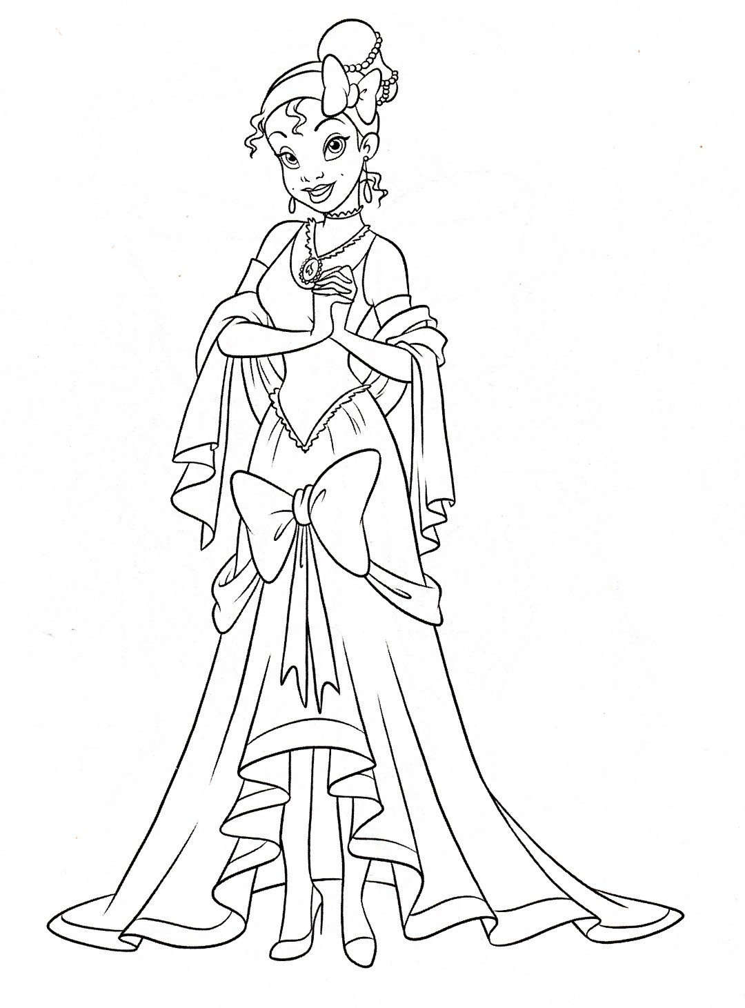 Tiana Disney Princess Coloring Pages