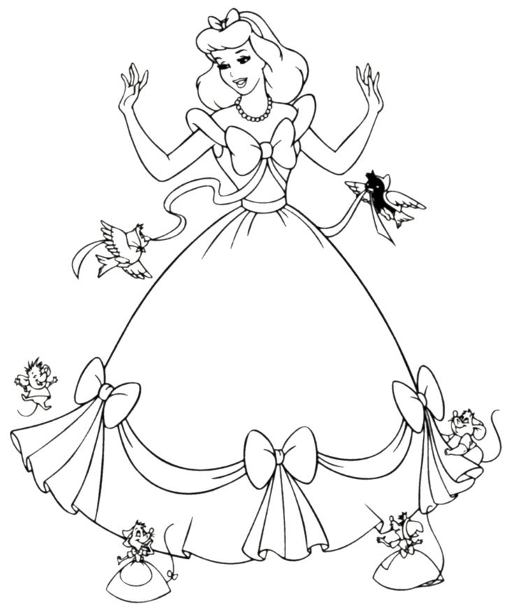 Princess | Free Coloring Pages | crayola.com | 875x734