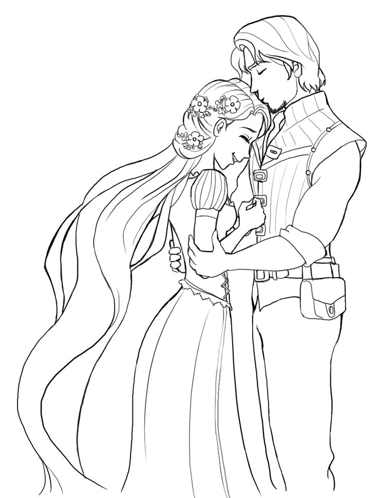 Disney Rapunzel Wedding Coloring Page
