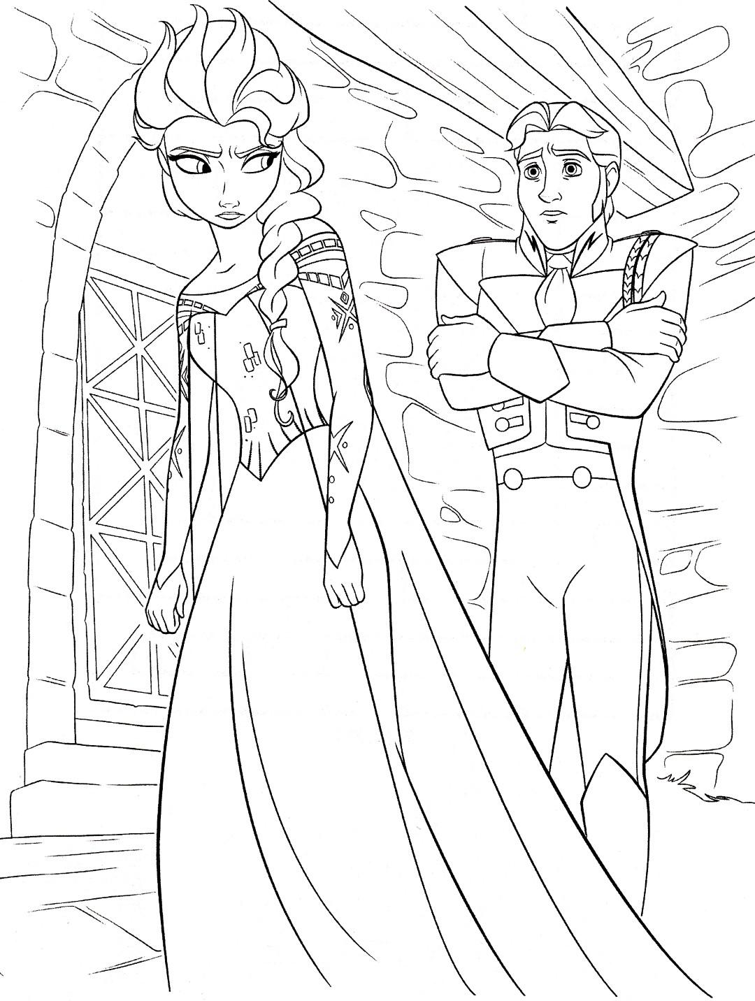 Disneys Frozen Elsa Coloring Page