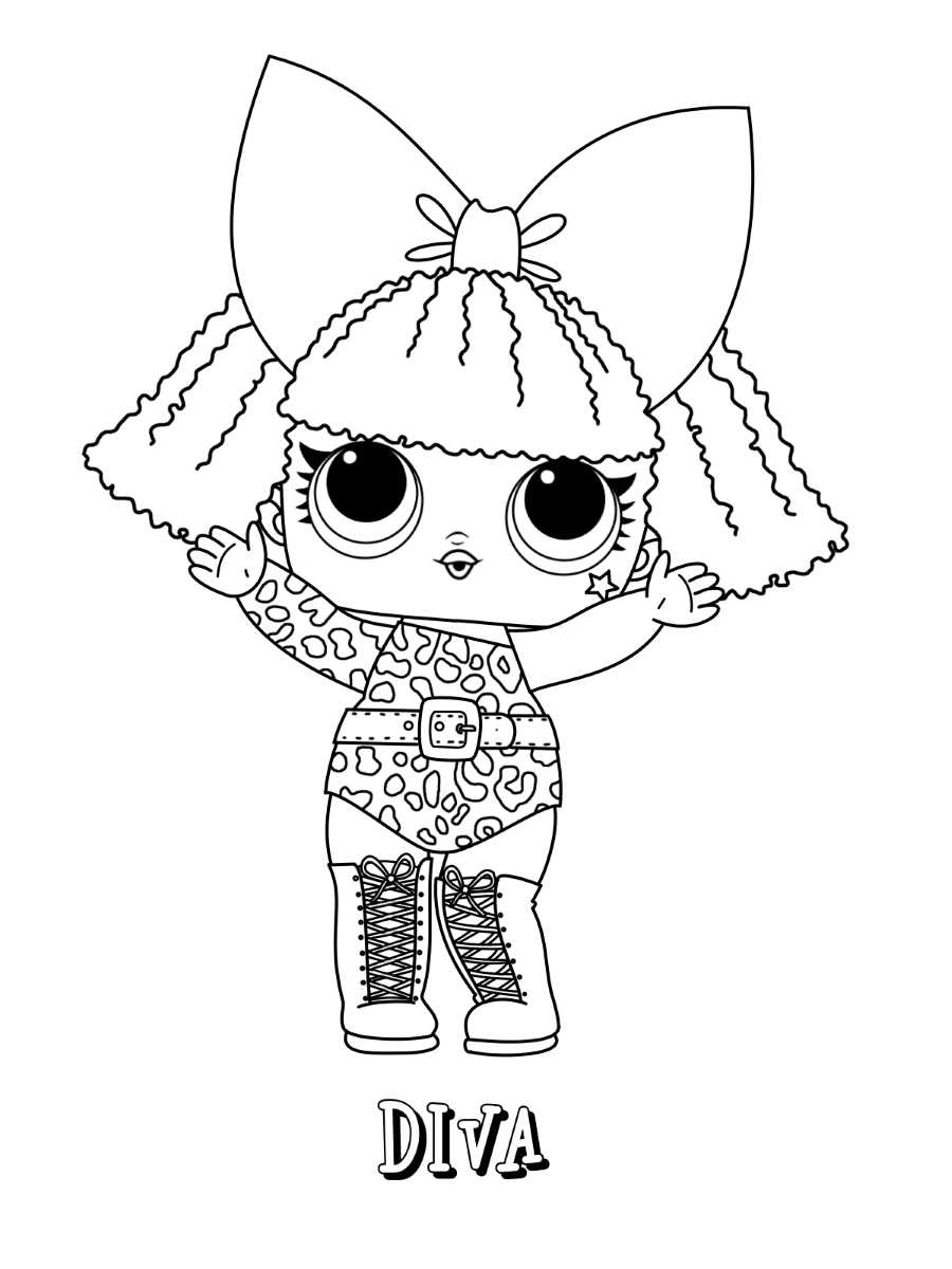 Diva LOL Dolls Coloring Pages