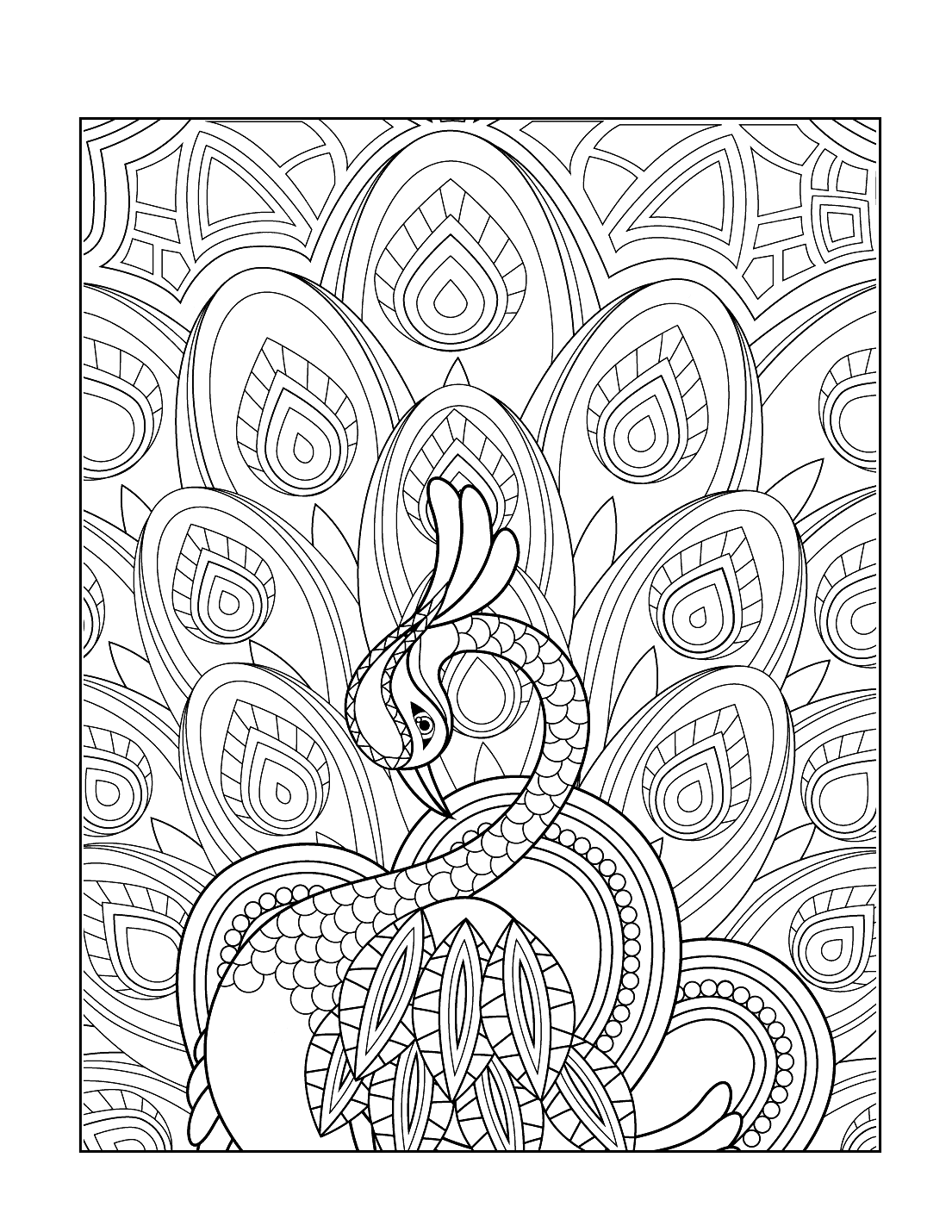 Diwali Peacock Coloring Pages
