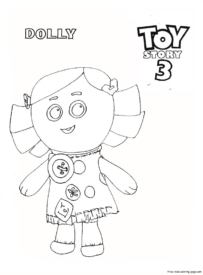 Dolly Toy Story 3 Coloring Pages