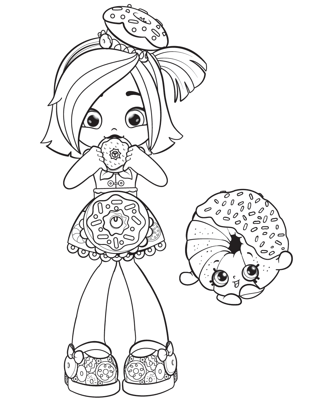 Donatina -Shoppies Coloring Pages